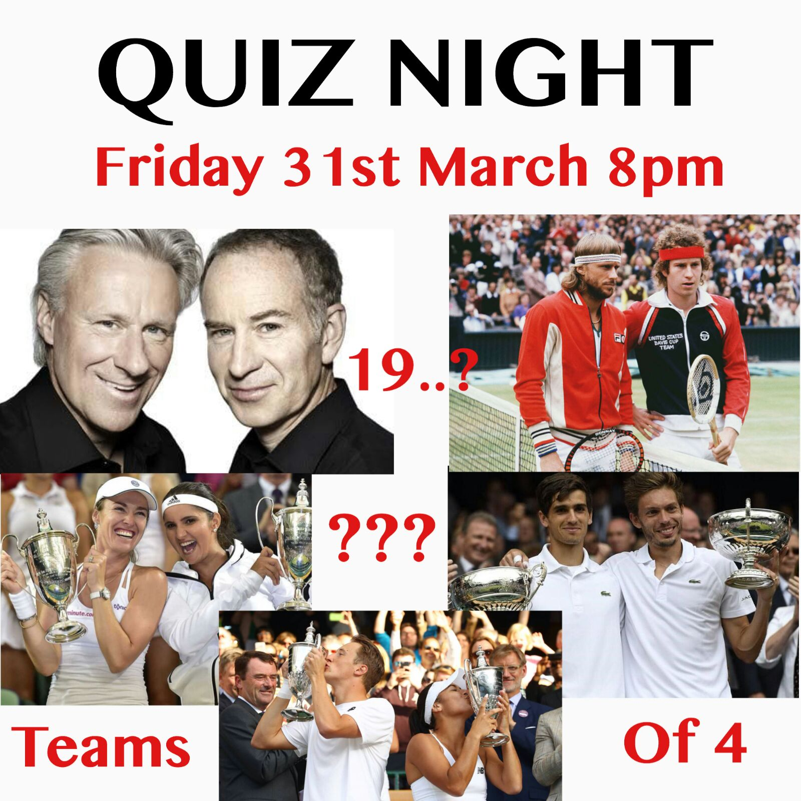 Quiz night – hope to see you all there!